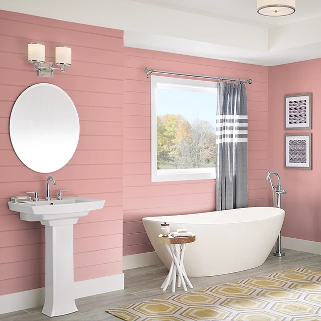 Bathroom painted in CANYON BLOSSOM