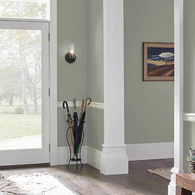 Foyer painted in SUMMER HAVEN