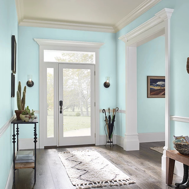 Foyer painted in SNOW LINE