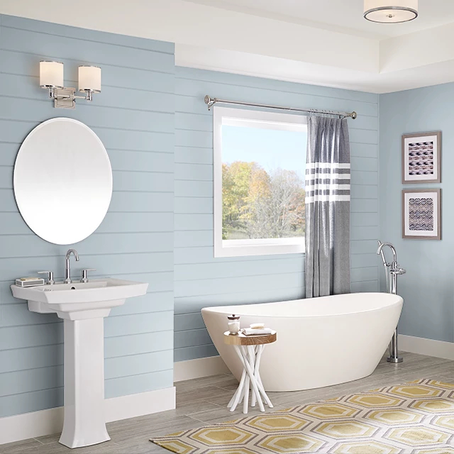Bathroom painted in SOOTHING OCEAN