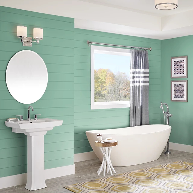 Bathroom painted in FRAGRANT HERBS