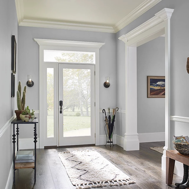 Foyer painted in HIPPOPOTAMUS GRAY