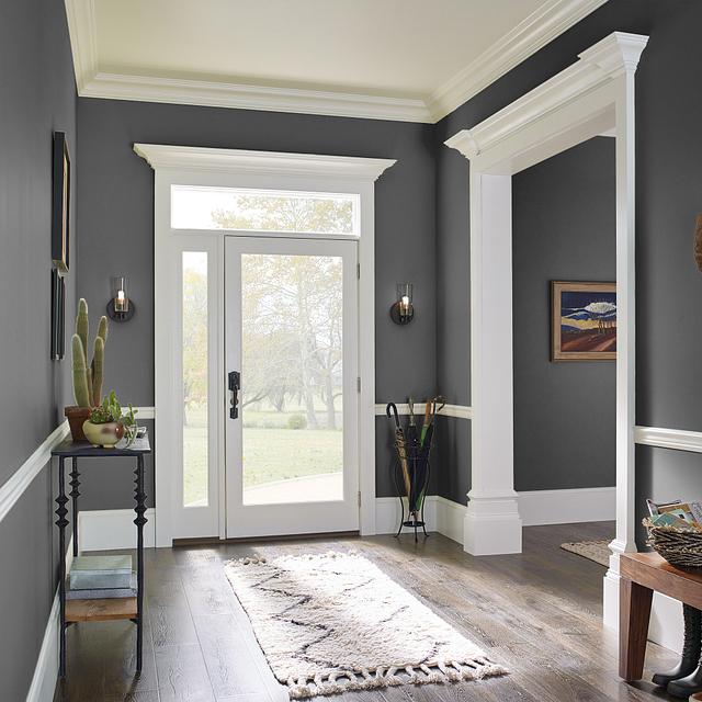 Foyer painted in TRUE BLACK