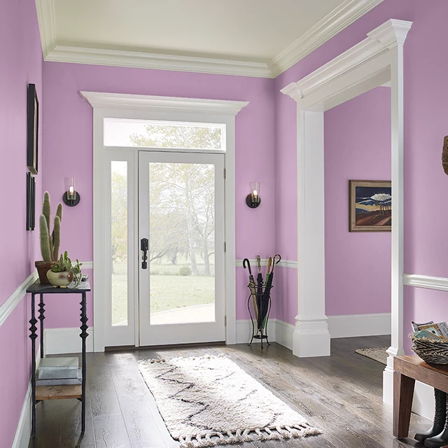 Foyer painted in HEAD OVER HEELS
