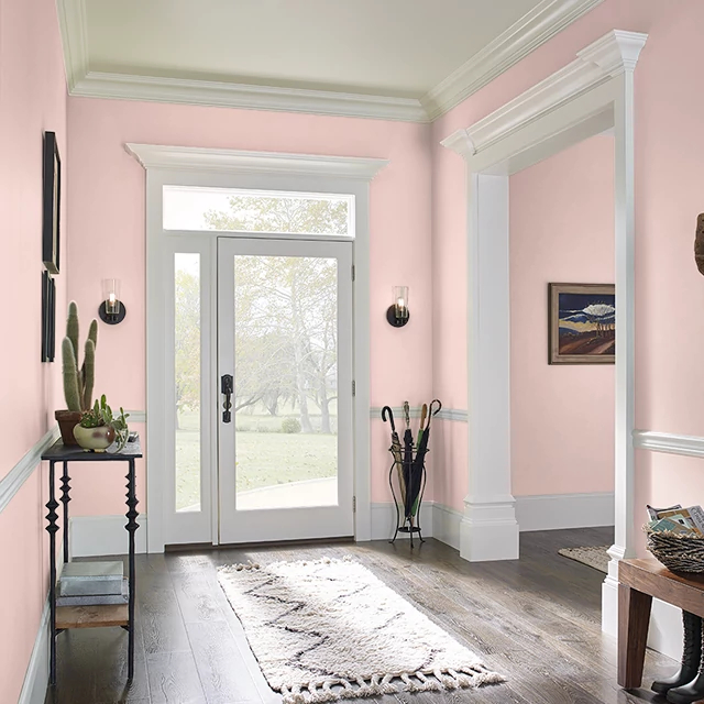 Foyer painted in CAKE POP