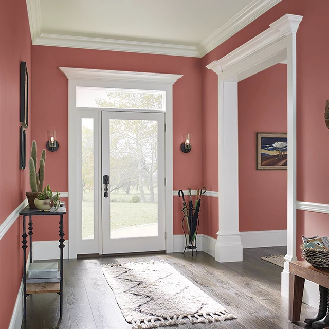 Foyer painted in RED GINSENG