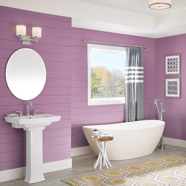 Bathroom painted in FUSION