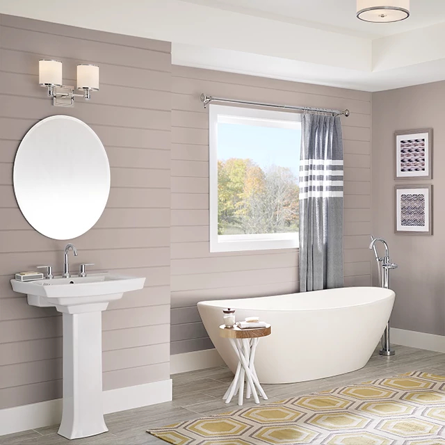 Bathroom painted in SIMPLY TAUPE