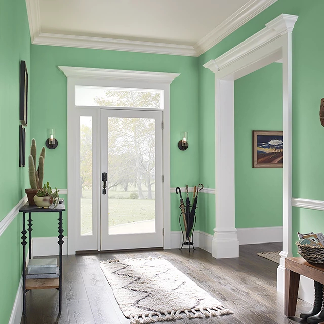 Foyer painted in WHEATGRASS