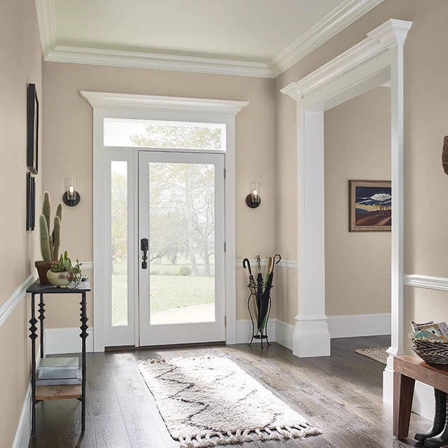 Foyer painted in YORKSHIRE TAN