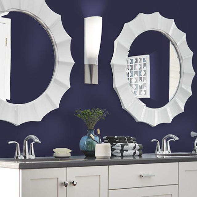 Bathroom painted in RULING ROYALTY