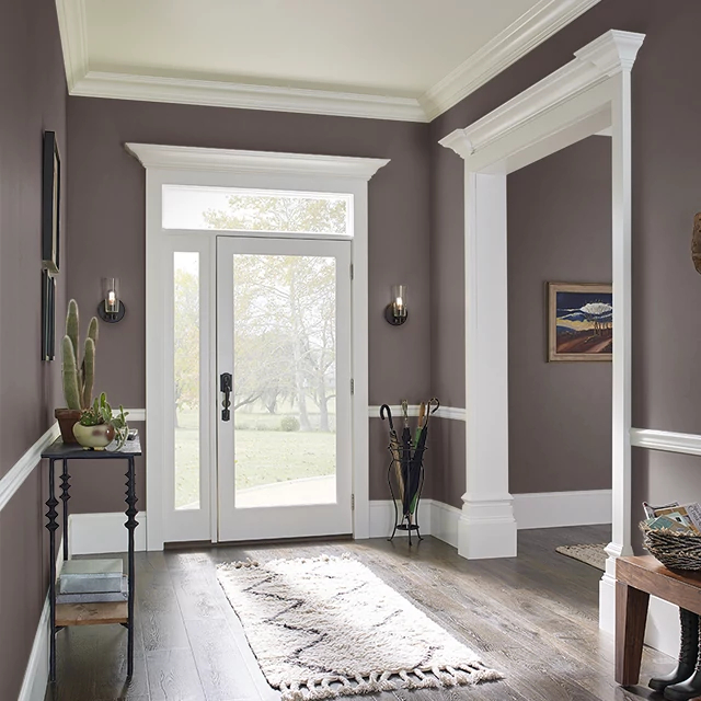 Foyer painted in CATTAIL