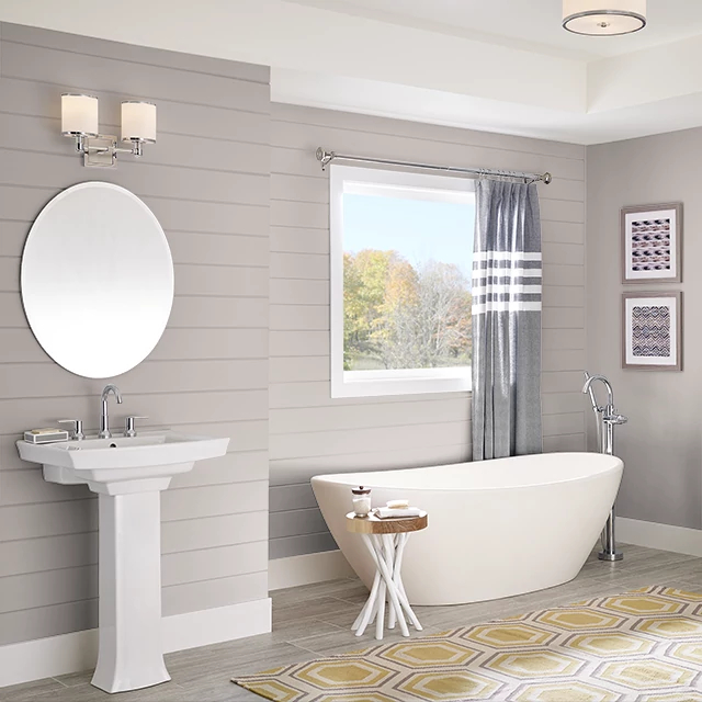 Bathroom painted in ALWAYS TAUPE