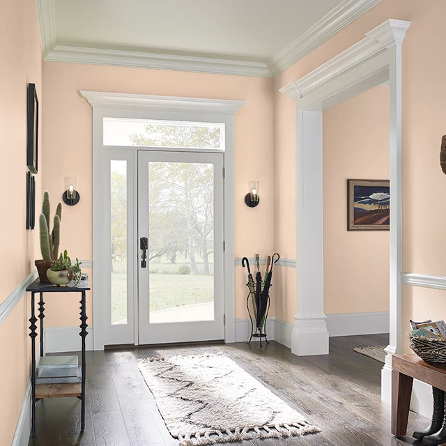 Foyer painted in SUMMER ESSENCE
