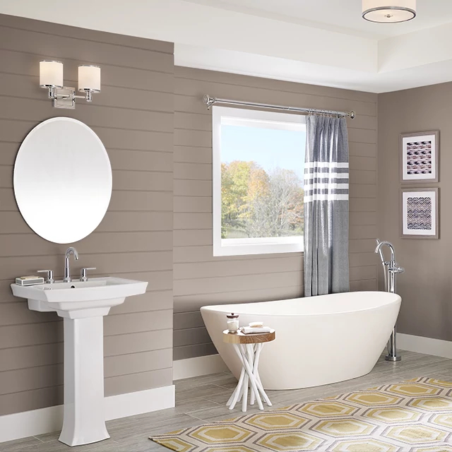 Bathroom painted in CHOCOLATE ALMOND