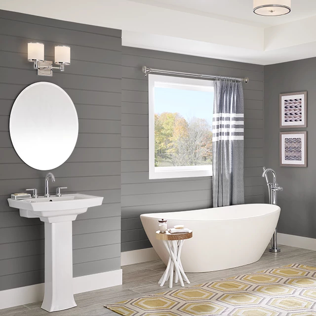 Bathroom painted in GRAPHIC GRAY