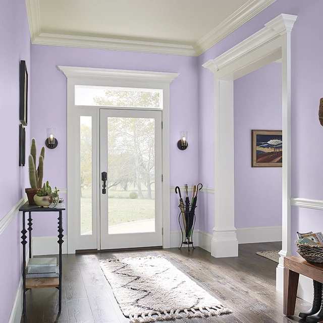 Foyer painted in FEBRUARY AMETHYST