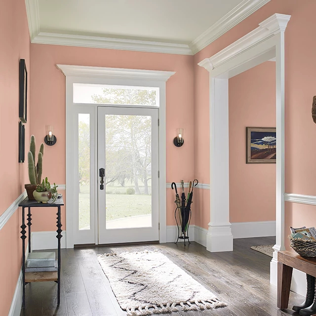 Foyer painted in ORANGE GINGER
