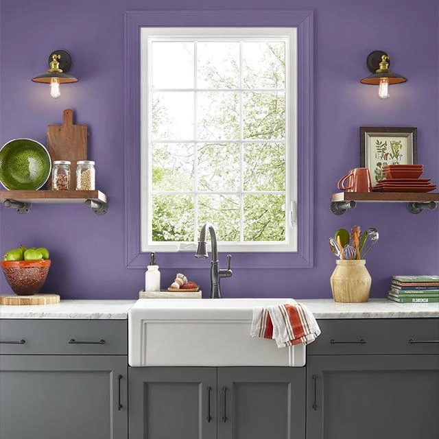 Kitchen painted in SUPERSTITION