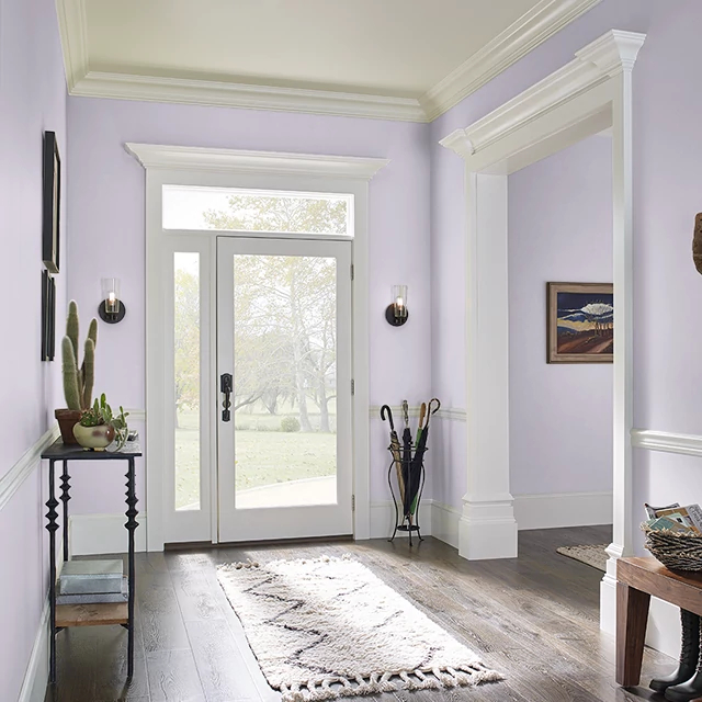 Foyer painted in BUTTERFLY KISS