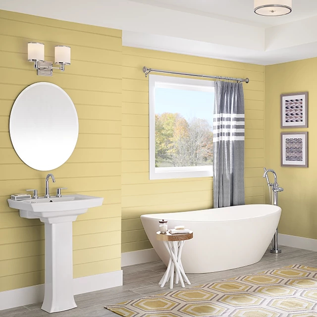 Bathroom painted in CHILLED CHARDONNAY