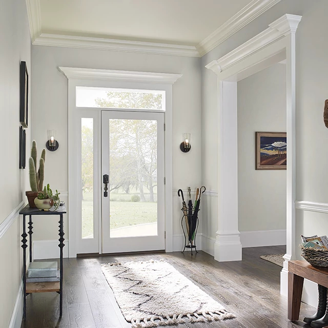 Foyer painted in SMOKE RING