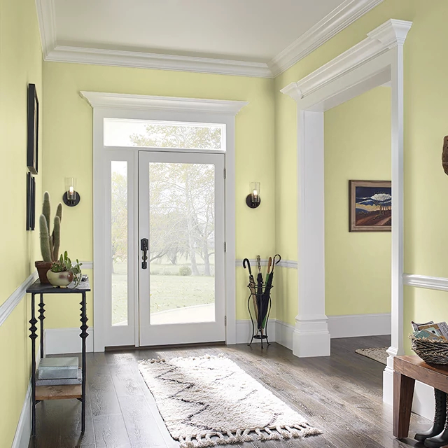 Foyer painted in SHIMMERING GREEN