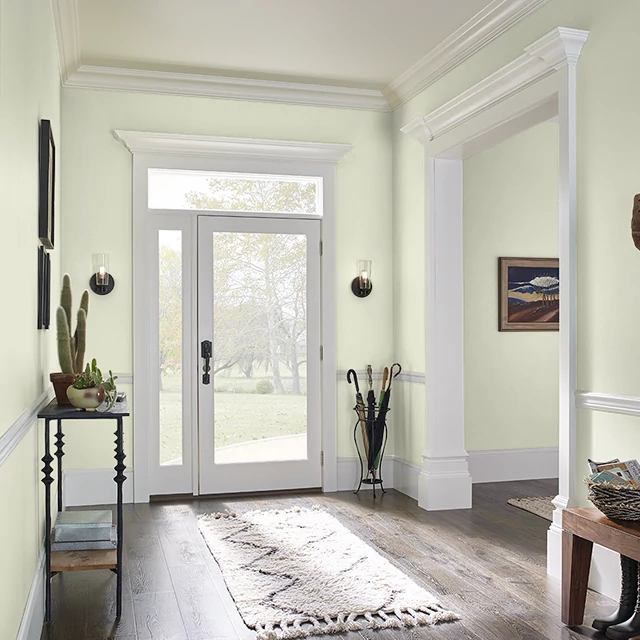 Foyer painted in HEALING SPRINGS