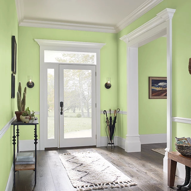 Foyer painted in TREE LINE