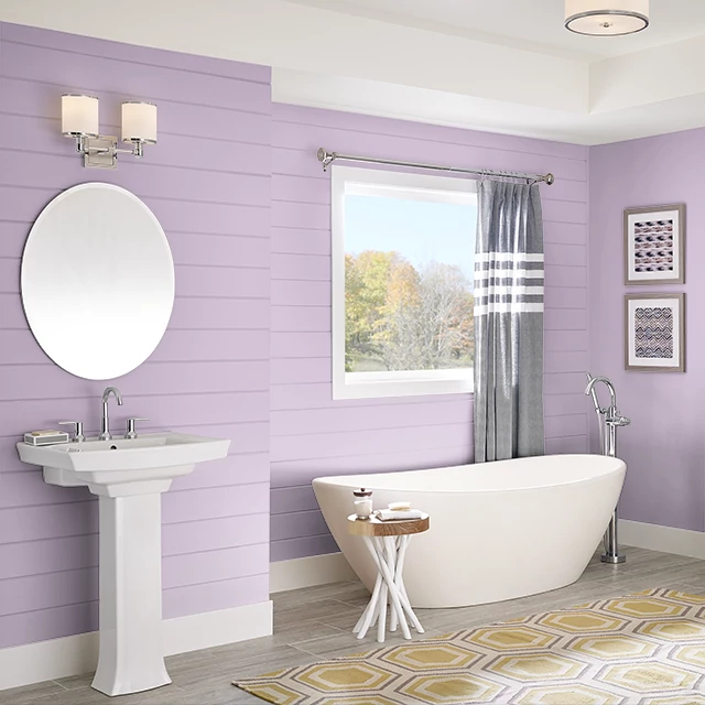 Bathroom painted in SHADY PINK