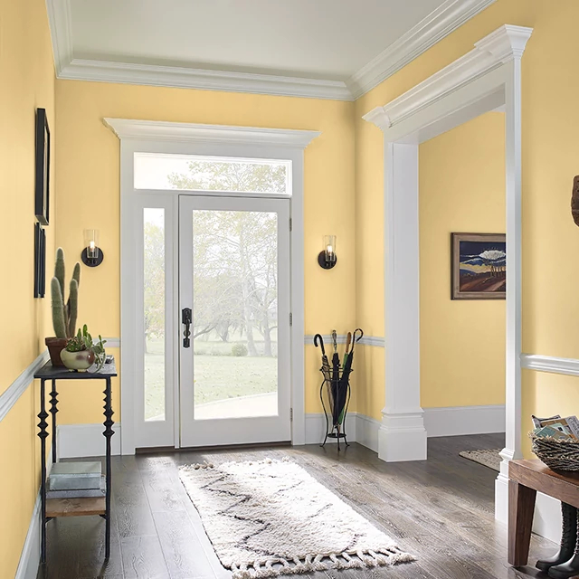 Foyer painted in YELLOW DUCKLING