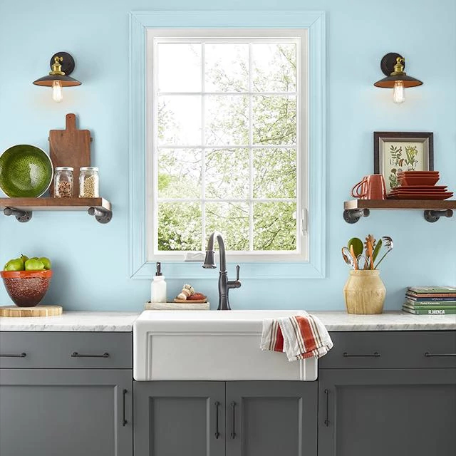 Kitchen painted in COTTON CLOUDS