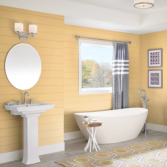 Bathroom painted in GOLDEN CORN