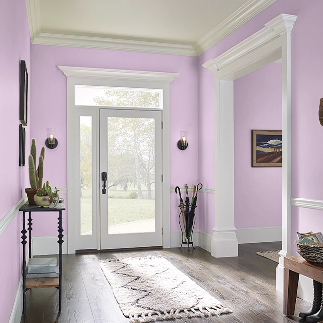 Foyer painted in PINK TIARA