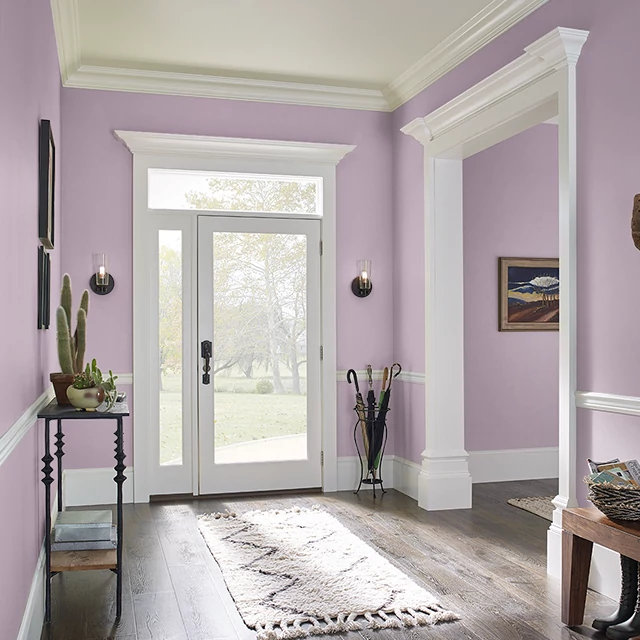 Foyer painted in MAUVE MELODY