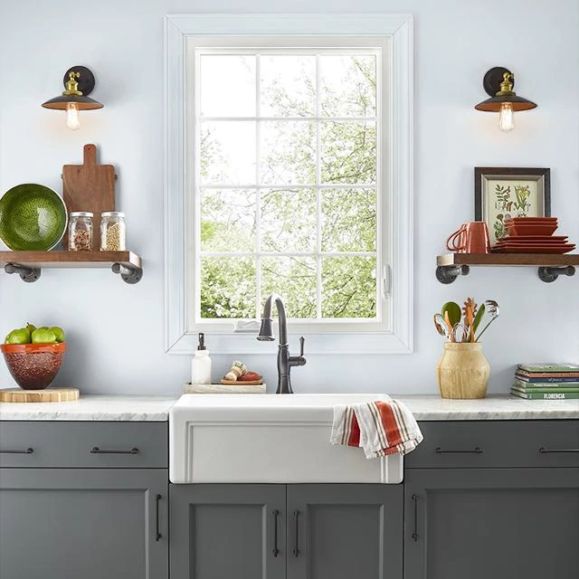 Kitchen painted in WHITE MAJESTIC