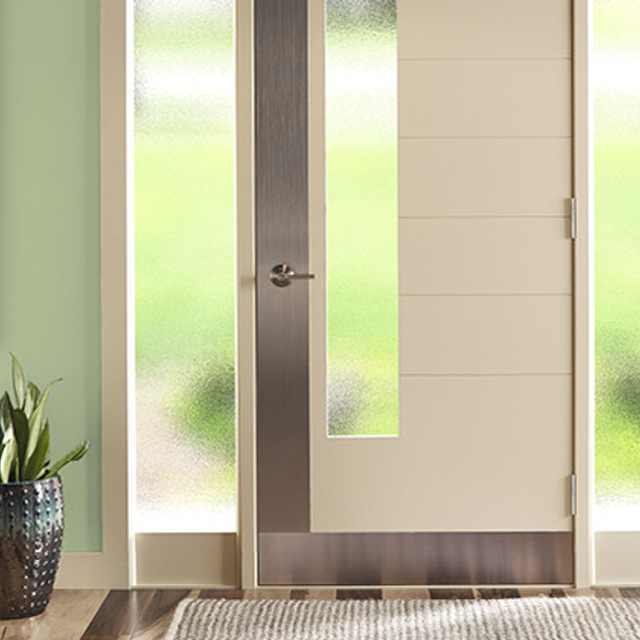 Entryway painted in SUBTLE CELERY