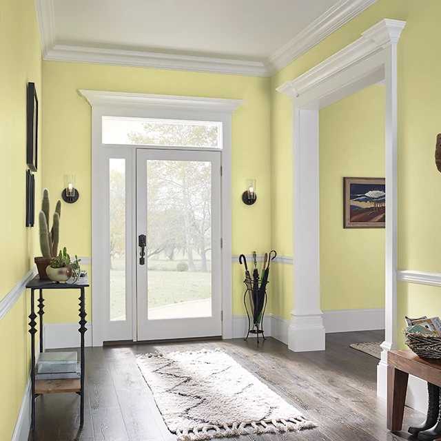 Foyer painted in ARTICHOKE HEART