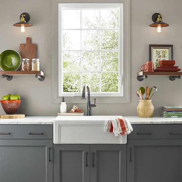 Kitchen painted in GREYSWOOD