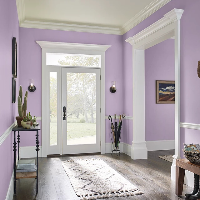 Foyer painted in FASHION PINK