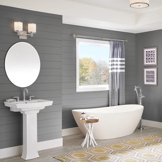 Bathroom painted in SOOTY