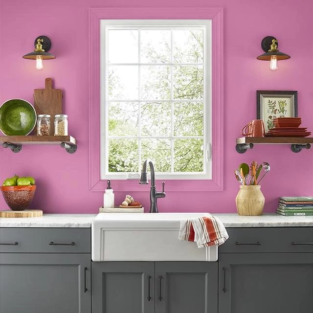 Kitchen painted in PLUMERIA LEI