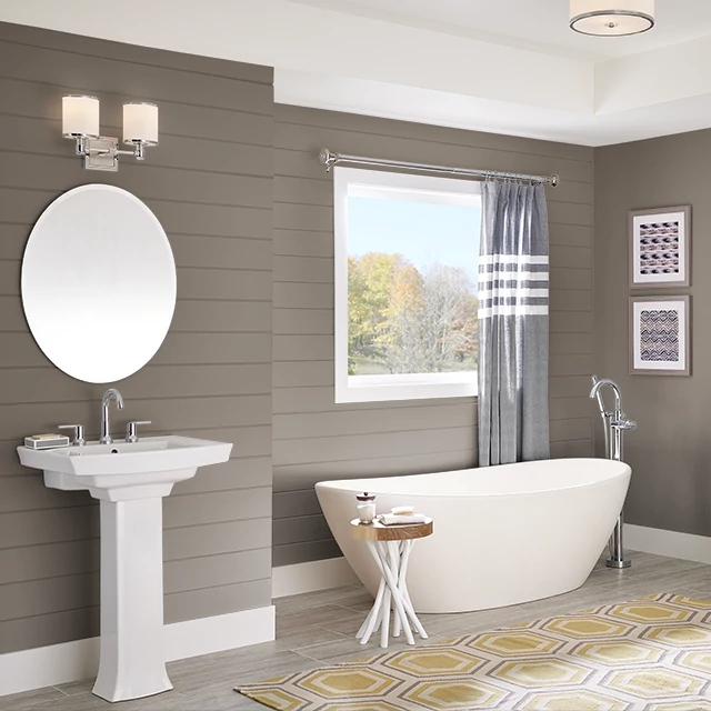 Bathroom painted in HITCHING POST