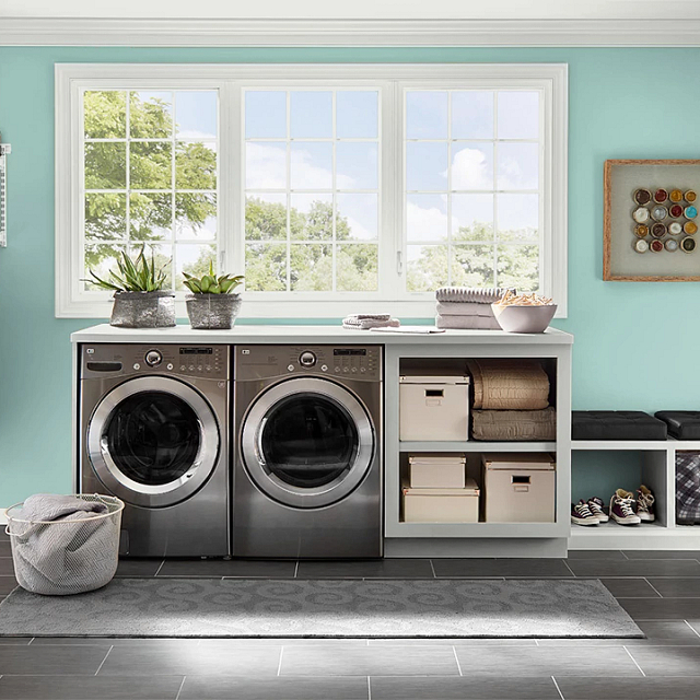 Laundry painted in OCEANIC