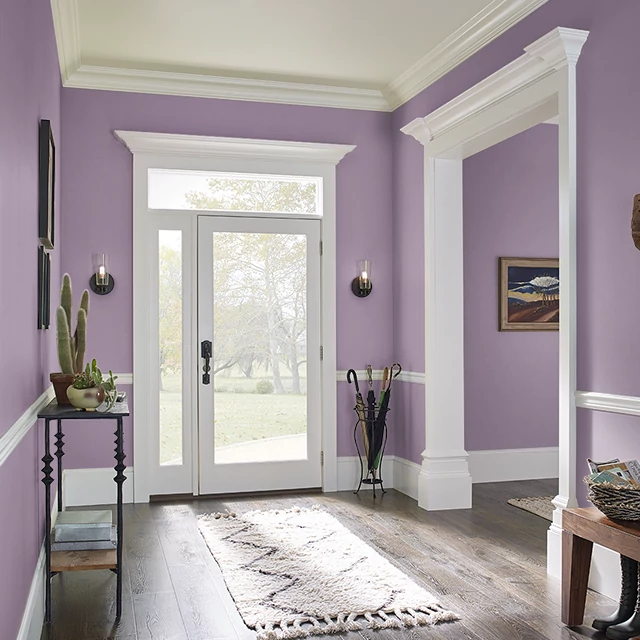 Foyer painted in PERSIAN ROSE
