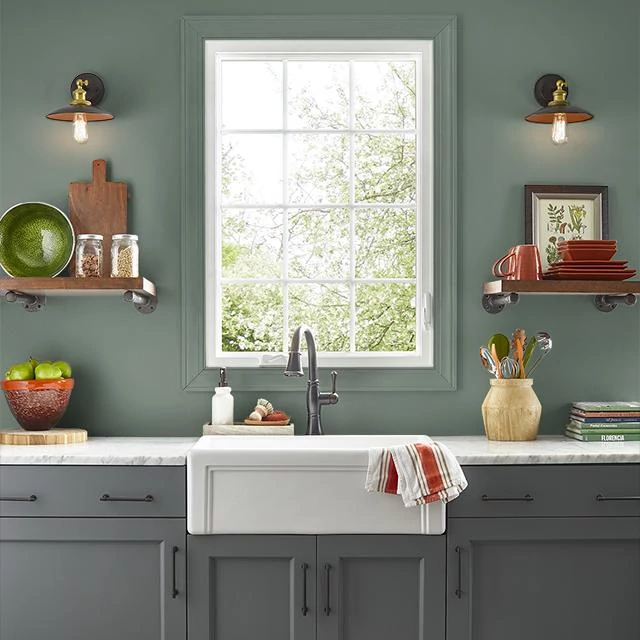 Kitchen painted in CULINARY HERBS