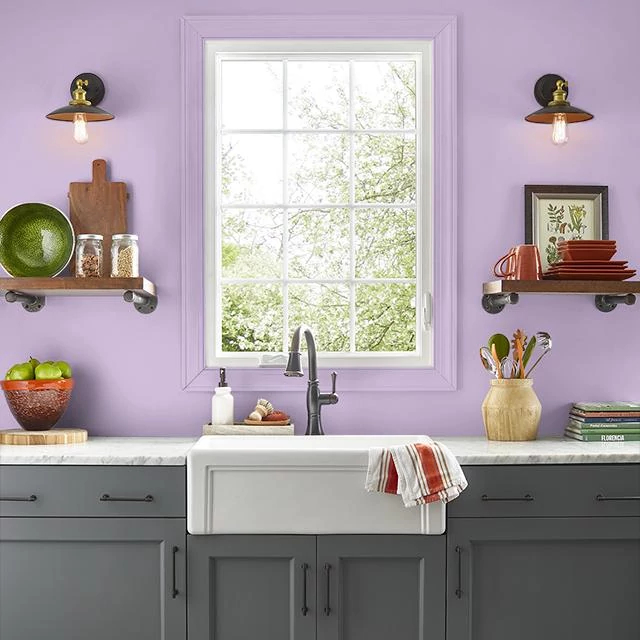 Kitchen painted in CANDIED HEARTS