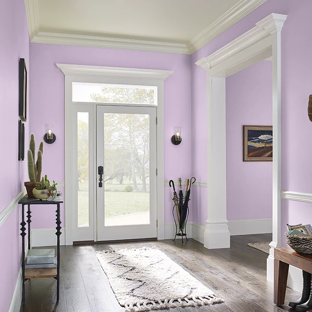 Foyer painted in YOUTHFUL PINK