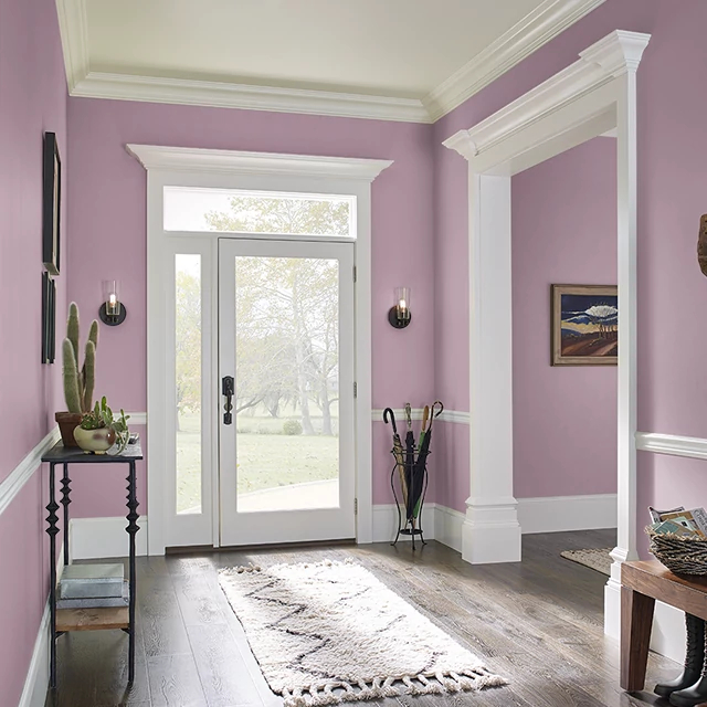 Foyer painted in HISTORIC ROSE