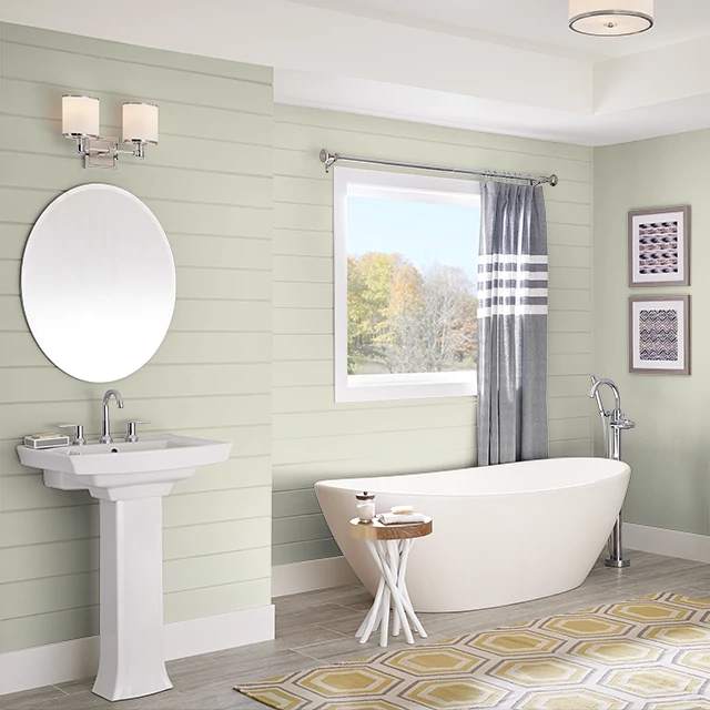 Bathroom painted in SILVER FERN